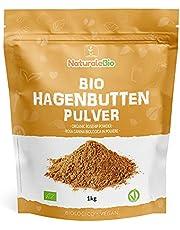 Nyponpulver av råa Ekologiska Nypon 1kg. 100 % Bio, naturligt och rent av ekologiska nyponbär. Rikt på C-vitamin, perfekt för infusioner, örtteer och smoothies. NaturaleBio