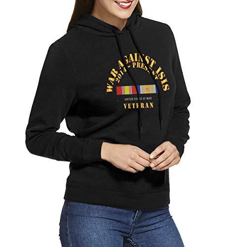 War Against Isis W Oir W 1 Star Womens Long Sleeve Pullover Hoodie Sweatshirts Black