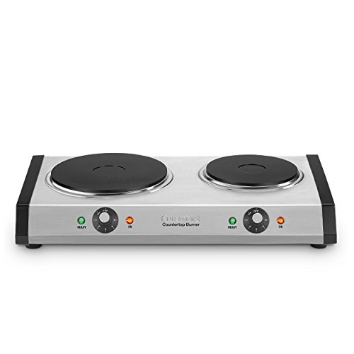 - Cuisinart CB-60 Cast-Iron Double Burner, Stainless Steel