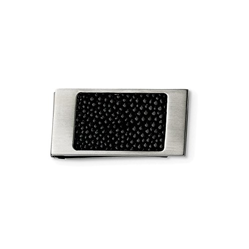 Stainless Steel Brushed Black Stingray Money Clip Man Fashion Jewelry Gift For Dad Mens For Him