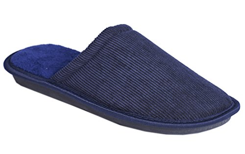 Slippers Mens Slip On Memory Foam Soft Clog Comfort Mule Textile Navy L42fX3Ui3A