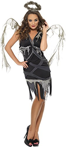 Smiffy's Dark Fallen Angel Costume, Black, (Dead Angel Halloween Costume)