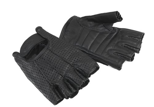Bell Rally Black Medium to Large Half Finger Motorcycle Gloves