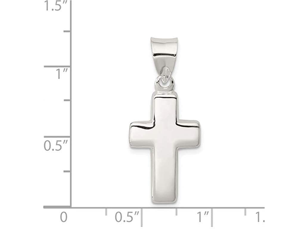 Sterling Silver Junior Cross Pendant Necklace with Chain