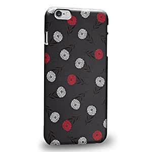 """Case88 Premium Designs Art Flower Pattern Black Theme Protective Snap-on Hard Back Case Cover for Apple iPhone 6 Plus 5.5"""""""