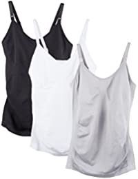 Caramel Cantina 3 Pack Women's Nursing Cami Built In Bra