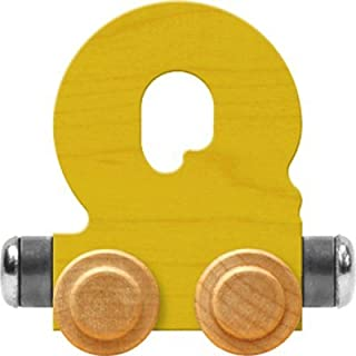 product image for Maple Landmark NameTrain Bright Letter Car Q - Made in USA (Yellow)