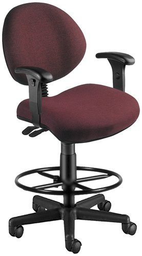 - OFM 241-VAM-AADK-63 24 Hours Anti-Microbial/Anti-Bacterial Vinyl Computer Task Chair with Arms, Drafting Kit