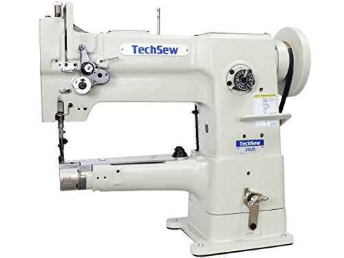 TechSew 2600 Narrow Cylinder Leather Walking Foot Industrial Sewing Machine with Assembled Table & Servo Motor