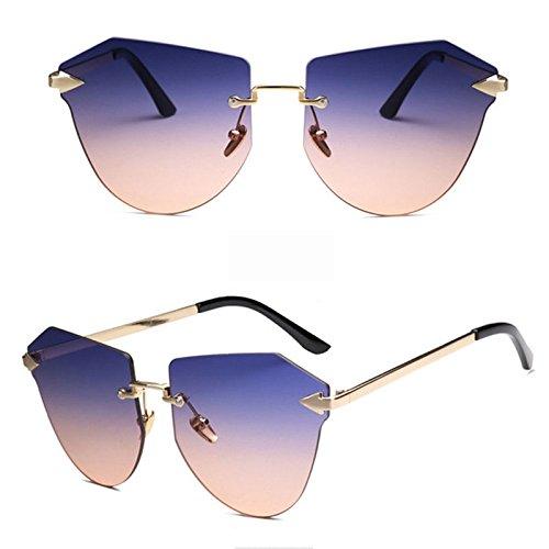 Ocasional Marco Océano del Gafas del Teñido Grandes Purple Recorte De Sin Grey Sol Gafas del Irregular Colorido Ciclismo De Sol De Polígono Gafas Gafas vRZ0qZ