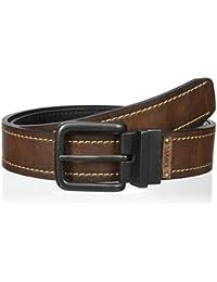 Men's Reversible Twist-Buckle Bridle Belt