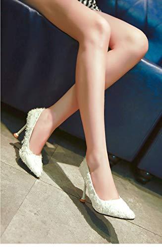 9 Super 38 Pu Col Thin Alto Donna Basic Pointed Flock Alti Scarpe on Tacchi Slip Uengf Da Toe 5 Tacco fHqO7O