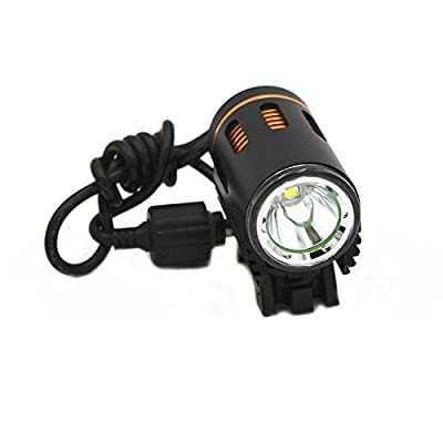 KC Fire Bicycle Light, 1000 Lumen LED Bike Headlight Rechargeable, Super Bright Waterproof Light Powered by 4x18650 Battery Pack for Bike / Flashlight for Mountain & Kids & Street Bicycle