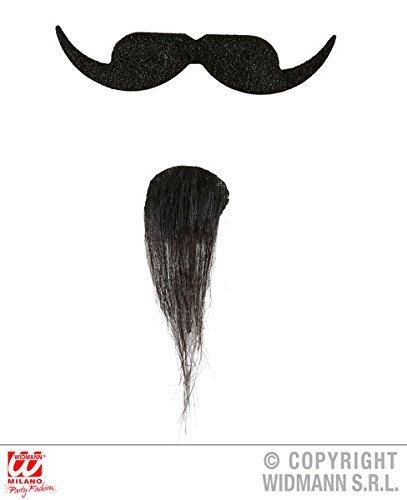 Musketeer Moustache & Goatee Beard Facial Hair for Biker Cavalier Fancy Dress by Partypackage Ltd