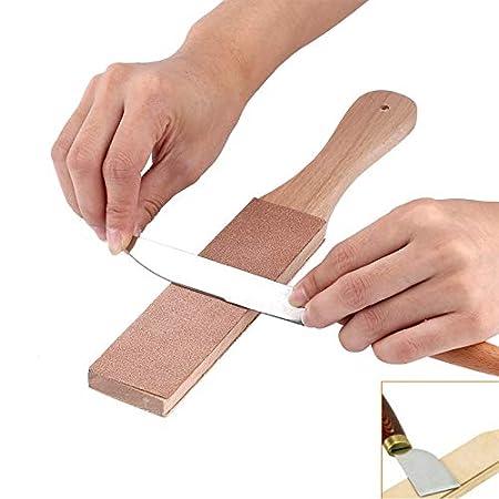 Mango de madera Polaco para artesanía de cuero Afilador de ...