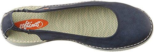 Softinos Damen Tor384sof Washed Geschlossene Sandalen Blau (Navy)