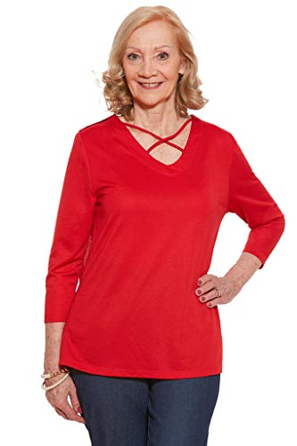 Ovidis Knit Top for Women - Red | Siri | Adaptive Clothing - XL