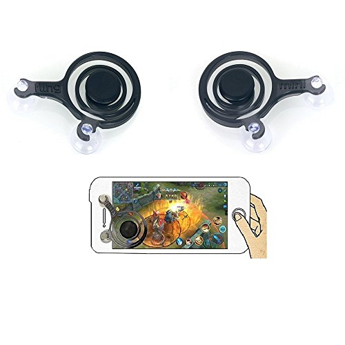 iGoods Phone Joystick-Mobile Game Joystick Phone Game Rocker Touch Screen Joypad Tablet Funny Gamepad Game Controller Gaming Fight For Android IOS Phone Pad Tablet iPhone Sumsung(left+right) (1 Pair)