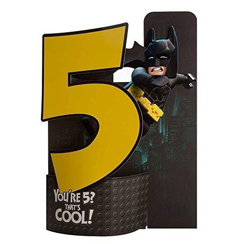 Lego Batman 5th Birthday Card You're 5 That's Cool
