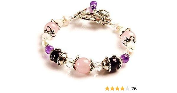 Fertility Jewelry Fertility Bracelet Aquamarine Gift for Her Moonstone Crystal Bracelet Trying to Conceive Rose Quartz Bead Bracelet