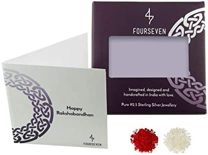Fourseven Rudraksh bracelet with Gold Plated Sterling Silver Om Charm