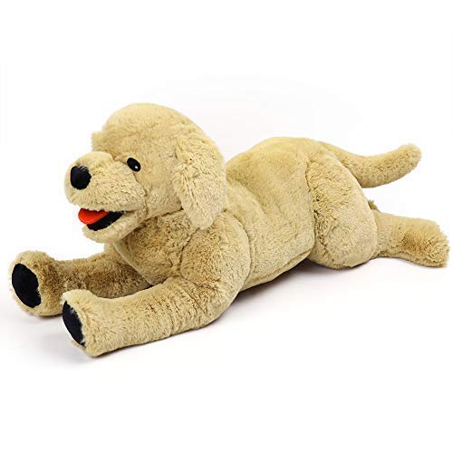 LotFancy 20.8 Dog Stuffed Animals Plush, Soft Cute Cuddly Golden Retriever Plush Toys, Large Stuffed Dog, Valentines Gift for Kids, Pets,Girls,Beige