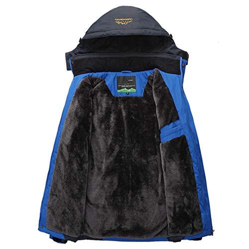 Da Antivento Pile Outwear amp;meoostny Parka Cappotto Uomo Invernali Caldo Blue Staccabile In Soprabito Th Impermeabile Giacche Spessa Cappuccio Maschile zqtwXwH