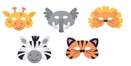 Kids Foam Jungle Masks Safari Dress Up Halloween Costume Party Favors Toy Set ()