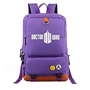 Asdfnfa Backpack, Middle School Students Men and Women Casual Rucksack Large Capacity Travel Package Computer Bag (Color : Purple)