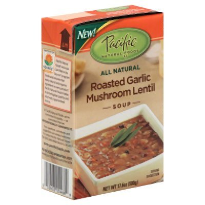 Pacific Natural Foods Roasted Garlic Mushroom Lentil 17.6 Oz (Pack of 12) - Pack Of 12 by Pacific Foods