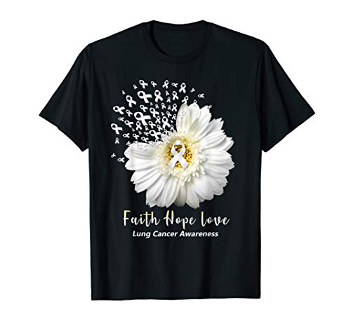 Faith Hope Love Tshirt Lung Cancer Awareness Gifts Shirt]()