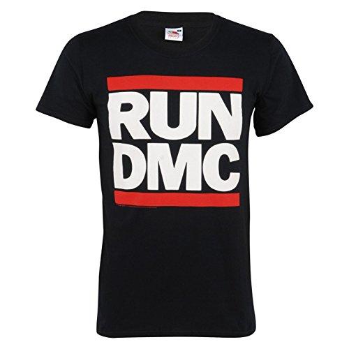 Run DMC Logo Official Band T-Shirt Mens Black Music Top Tee T Shirt - Dmc Run Band