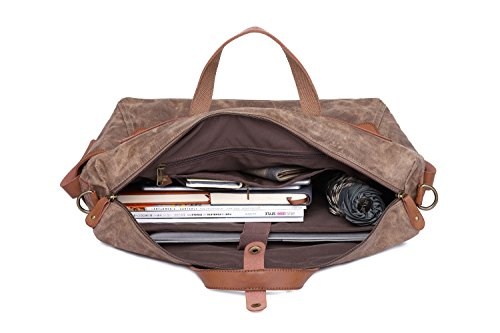 Retro Waterproof Men's Bag Handbag Canvas Large Oil Computer Capacity Brass Travel q4w5P4