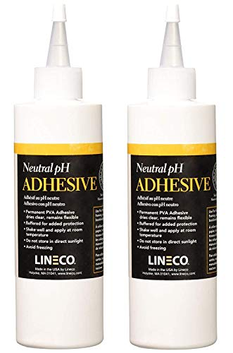 Lineco 901-1008 Neutral PH Adhesive 8 Ounces (2-Pack)