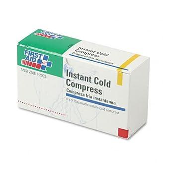 Paquete frío instantáneo, blanco, 4 x 5 pulgadas, PK5 ...