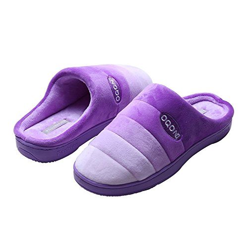 Violet Cotton Cotton Non WILLIAM Grape Warm Shoes Thicken Couple Home Slippers Women Indoor Slippers Men's Slip Casual amp;KATE qCCvTwE