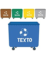 Haberdashery Online Etiquetas Adhesivas para Reciclaje con Texto Personalizado | 5 Pegatinas Resistentes para la gestión de residuos Modelo: XL