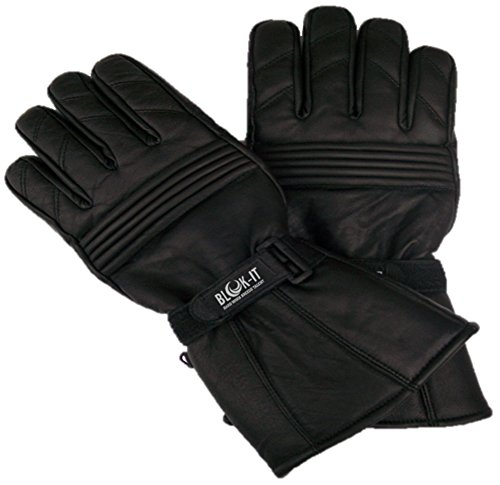 Blok-iT Full Leather Motorcycle Gloves Gloves are Thermal 3M Thinsulate Material Motorcycles /& Motorbikes. For Bikers