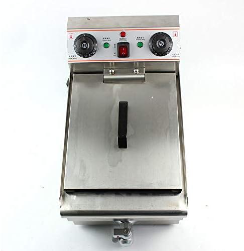 Friteuse électrique commerciale avec robinet d'écoulement en acier inoxydable 10 l