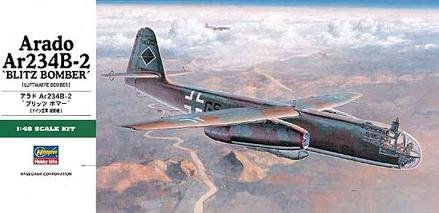 German Arado Blitz Bomber AR234B-2 1-48 by Hasegawa