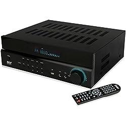 Pyle Home Theater Amplifier Wireless Bluetooth Audio Receiver 5.1 Channel Hi-Fi System, AM/FM Radio, MP3/USB Reader (PT684BT)
