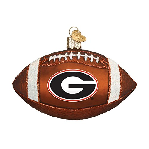 - Old World Christmas Ornaments: Georgia Football Glass Blown Ornaments for Christmas Tree