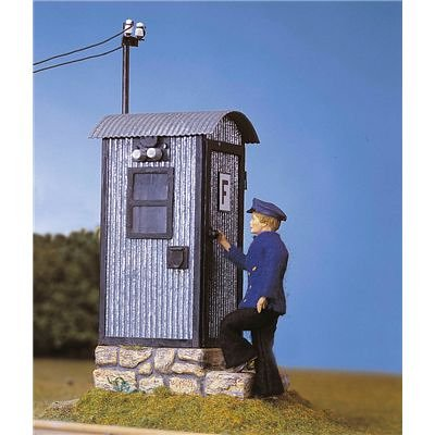 POLA G SCALE MODEL TRAIN BUILDINGS - RAILWAY TELEPHONE SHANTY - 330916