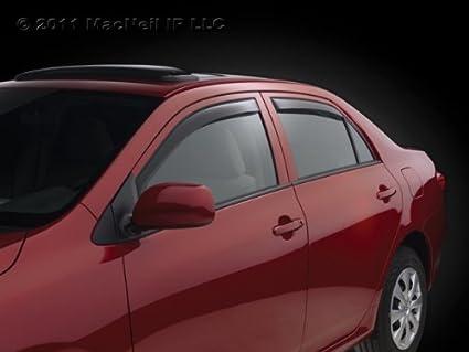 Best Material Polycarbonate PC VXMOTOR for Subaru Outback 2015-2019 w//Chrome Trim Smoke Tinted Rain Guard Deflector Window Visor