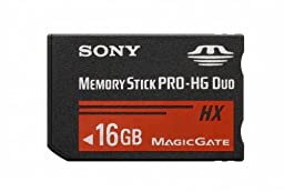 Sony 16 GB MS PRO-HG DUO HX High Speed Memory Stick (MSHX16B/M)