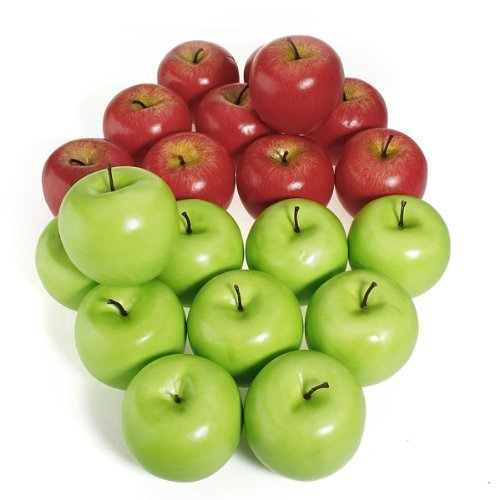 Asien 12pcs décoratifs Gros Fruits artificiels en Plastique Red Apple Party Home Decor