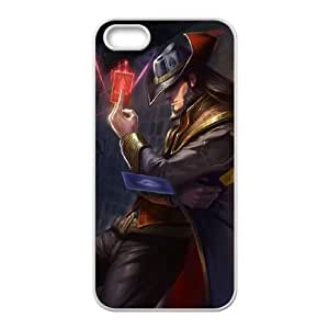 League of Legends(LOL) Twisted Fate iPhone 5 5s Cell Phone Case White DIY Gift pxf005-3636024