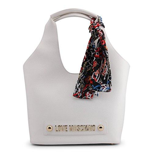 Bonded Pu Borsa Satchel Love Moschino Women's White qOFtO