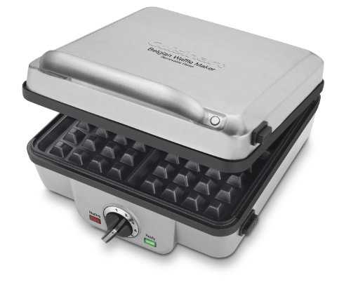 Cuisinart Belgian Maker with Pancake Plates Waffle Iron, Single, Silver,WAF-300P1