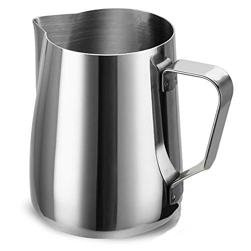 (Access-FRH Espresso Frothing Pitcher Stainless Steel 12 oz 350 ml Milk Frothers Measurements Inside Foaming Milk Jug Cup For Lattes Cappuccino Coffee)